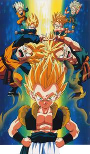 SSJ Goten and Trunks fusion pose or dance = Gotenks