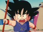 Goku yelling at Oolong