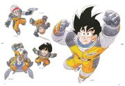 Dragon Ball Z Manga Dragon Ball in Space Son Goku (Spacesuit), Master Roshi & Turtle (Spacesuit), Son Gohan (Spacesuit), Bulma (with Blaster Gun), & Krillin (w Laser Sword) 80