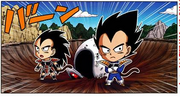DXRD Caption of Dragon Ball SD - Teen Raditz & Vegeta comes to train on Earth