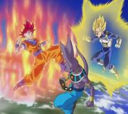SSG Goku and FMSS2 Vegeta vs Beerus
