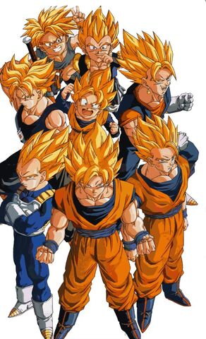 File:Goku ss1, goku ss2, vegita,gojetass2, older trunks, younge trunks ss1, goten & gotenks ss1.jpg