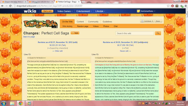 File:Vandalism on Perfect Cell's page.png