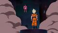 PTETS - Hatchiyack stares Goku