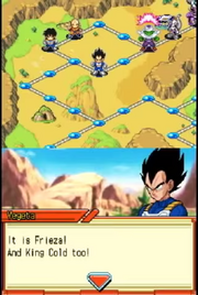 DXRD Caption of Vegeta knows who's King Cold (Dragon Ball Z Harukanaru Densetsu)