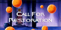 Call for Restoration