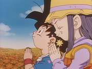 Pan and Goku Jr. Praying