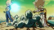 Vegeta blasts Goku&Cooler
