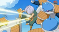 Abo punchs trunks in the stomach