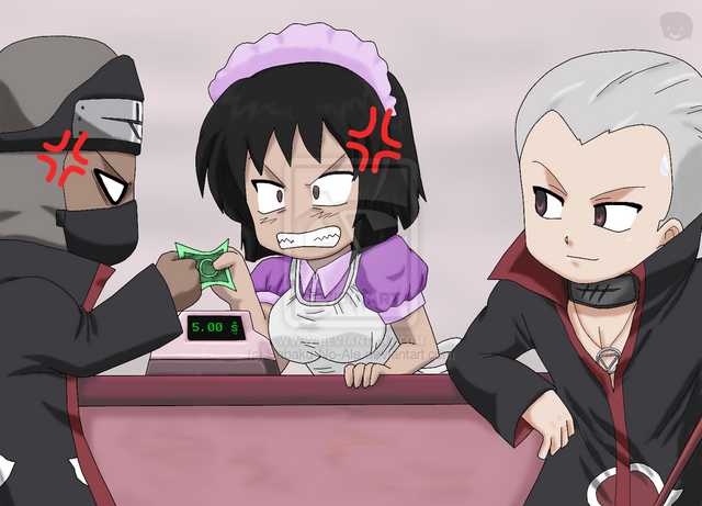 File:Naruto Chibis Dont want to pay by Sabaku No Ale.png