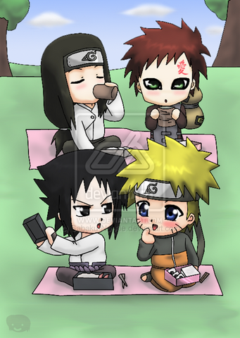 File:Naruto Chibis Lunch XD by Sabaku No Ale.png
