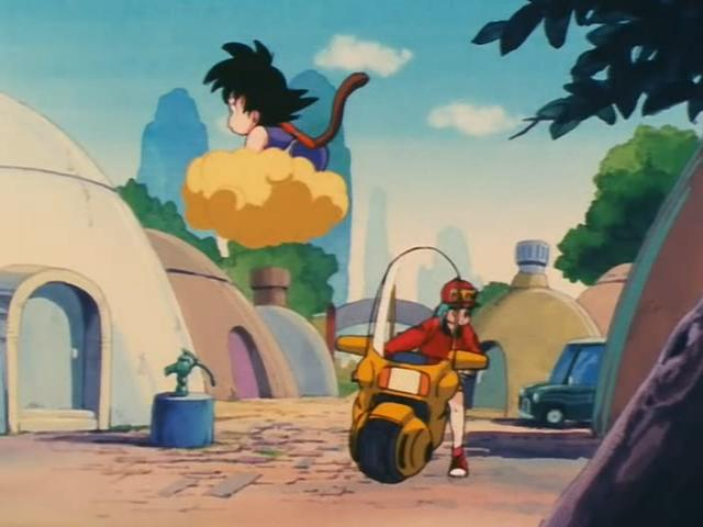 File:Goku and Bulma in the villiage.jpg