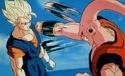 Super Vegito dodging Gohan absorbed Super Buu