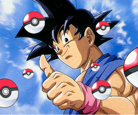 File:Goku with Pokeballs.png