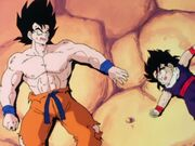 Goku and Gohan beat be vegeta