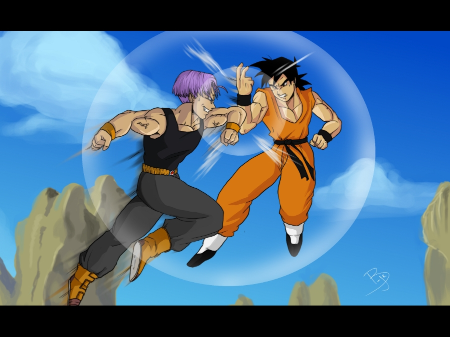 Goten vs Trunks | Drag...