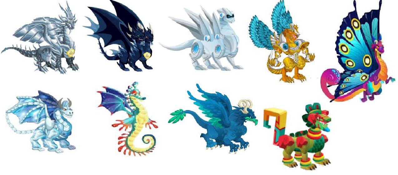 Todos Los Dragones De Dragon City Hasta El