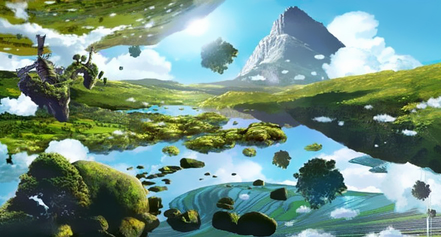 floating islands, dragon hunters, world, fantasy, epic, reading, mustread, goodreads, booklove, magical, mystical, green, blue, sky, trees, short story, author blog, blog series, serial series,
