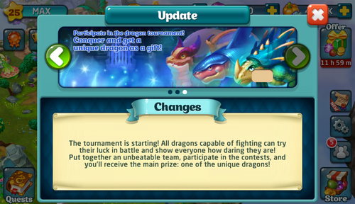 Tournament XVII Update