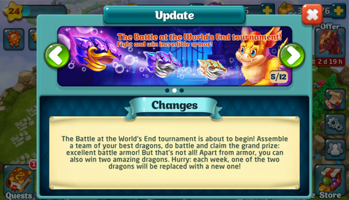 Tournament LVIII Update