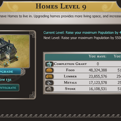 Inside the Home: Upgrade Requirements, Population Increase