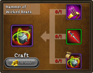 Craft hammer of wicked beats