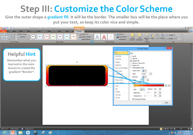 how to make a banner in powerpoint 2010