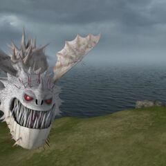 The Screaming Death flying above Berk.