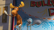Rocky and Bullwinkle are waving to the good people