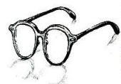 Arale's glasses manga
