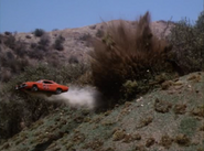 The General Lee Jumping over blasting area