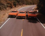 """Three General Lees in episode """"The Dukes Meet Cale Yarborough"""""""
