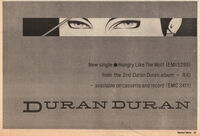 Hungry like the wolf wikipedia song duran duran advert record mirror music paper