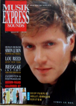 MUSIK EXPRESS SOUNDS JAN 1987 magazine duran duran