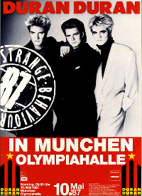 Poster duran duran munchen olympiahalle 1987