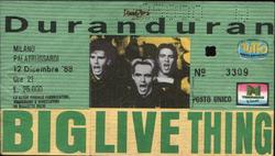 Duran duran milano ticket 12 december 1988 italy