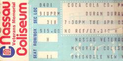 Duran duran ticket syn 264 DD19840001