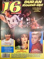 16 Magazine Duran Duran Round-Up, Madonna June 1985 wikipedia madonna