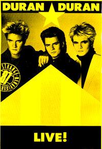Poster 1987 duran duran live