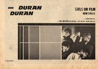 Record mirror music paper advert girls on film song wikipedia duran duran