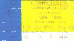Duran Duran ticket Hordern Pavilion, Sydney, Australia