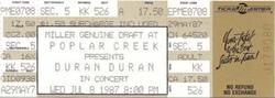 TICKET Poplar Creek Music Theatre, Hoffman Estates, Chicago, IL (USA) - 8 July 1 DURAN DURAN WIKIPEDIA