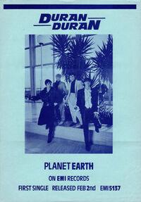 Planet earth song wikipedia flyer duran duran 1981
