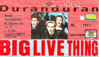 Ticket duran duran milano 10 december 1988