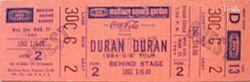 Madison Square Garden, New York, NY (USA) - 21 March 1984 wikipedia arena duran duran show