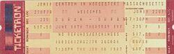 Ticket DURAN DURAN 1987 NOTORIOUS TOUR UNUSED WORCESTER TICKET