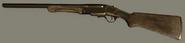 Golden Double-Barrel Shotgun