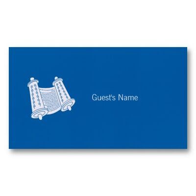 Hanukkah motif torah blue place card business card-r5b1c1bd8eb584ed79b08662dfef75d6e xwjbk 8byvr 512