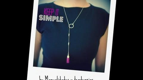 DIY Collar con borla Tassel necklace.
