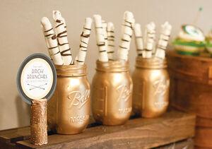 Gold-mason-jars